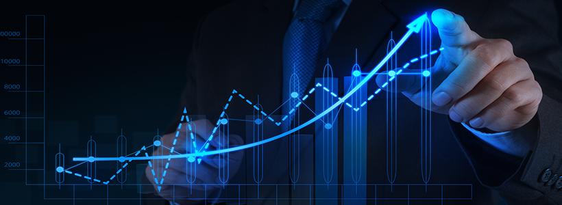 finance professional using technology