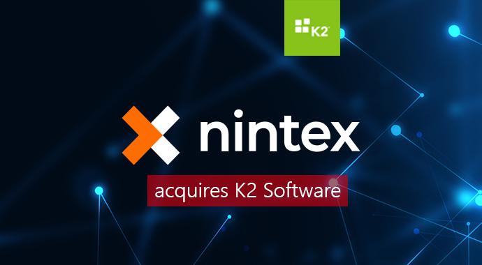 nintex logo, k2 logo, digital background