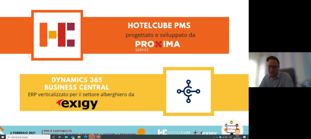 Screenshot of business central and proxima webinar