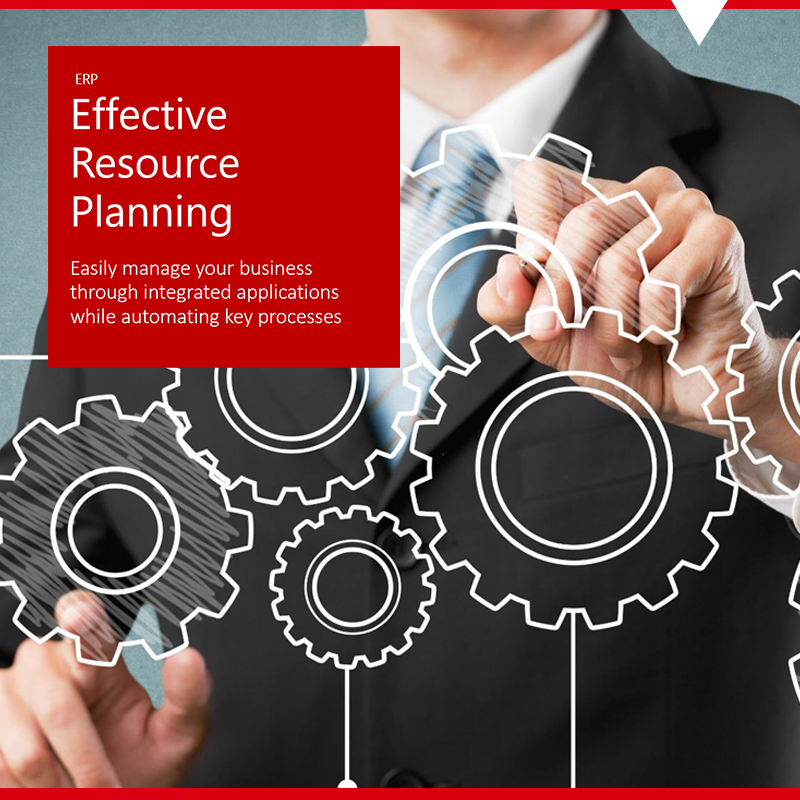 Executive using technology to manage business