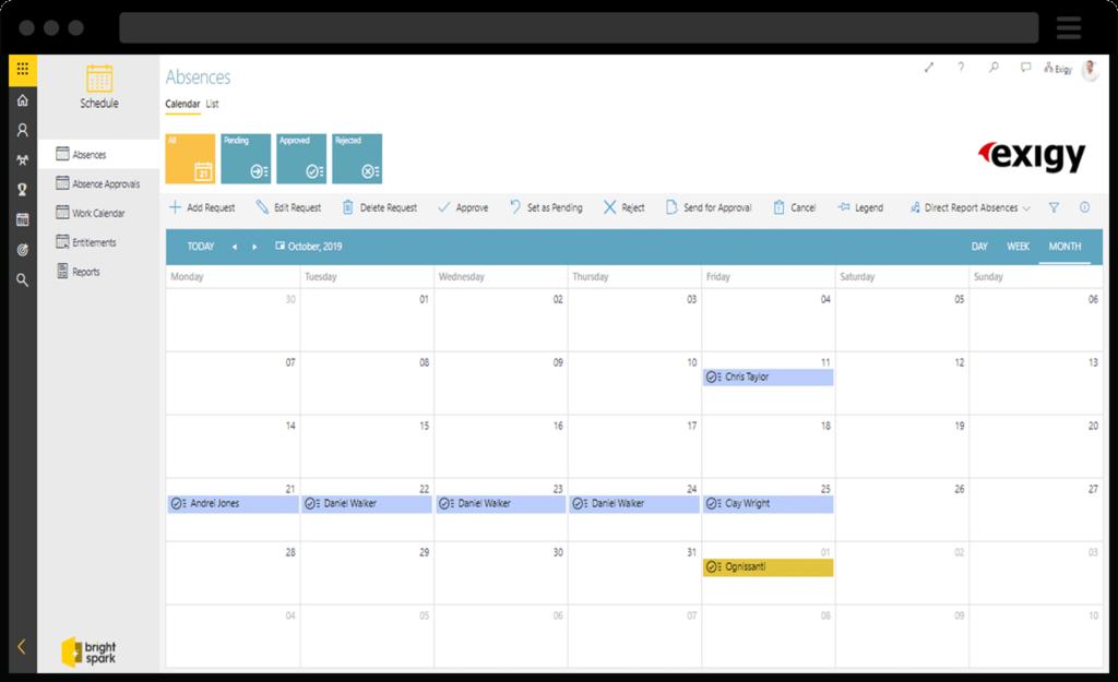 Screenshot of Brightspark Scheduler