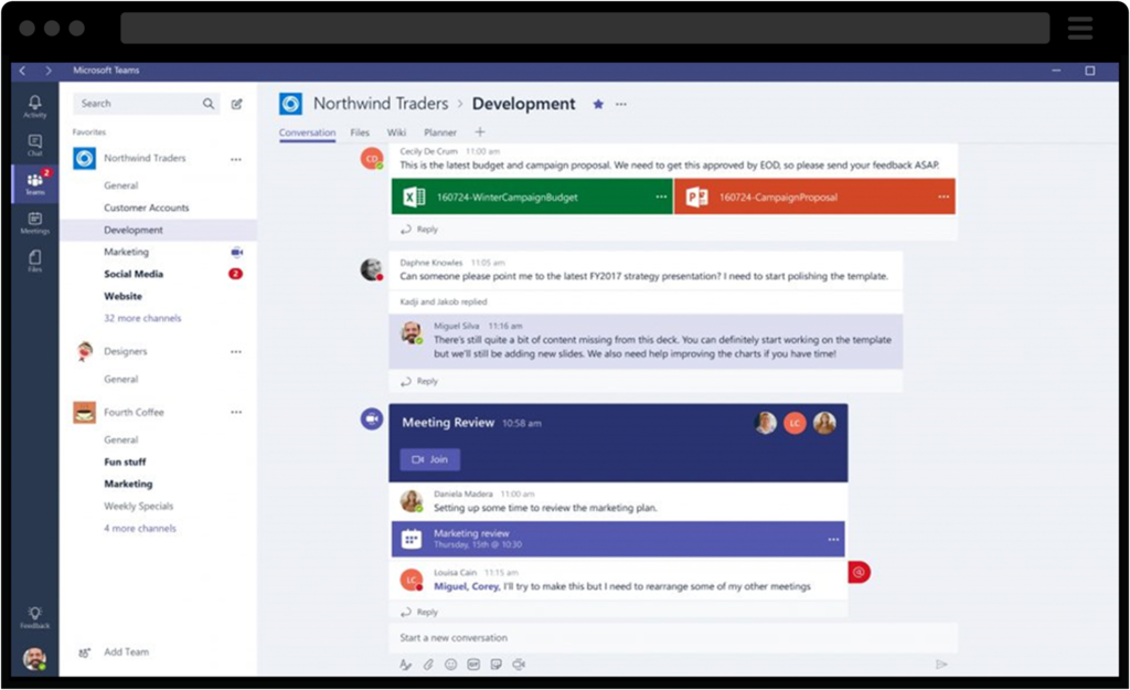 Screenshot of Dynamics 365 for Marketing Feature