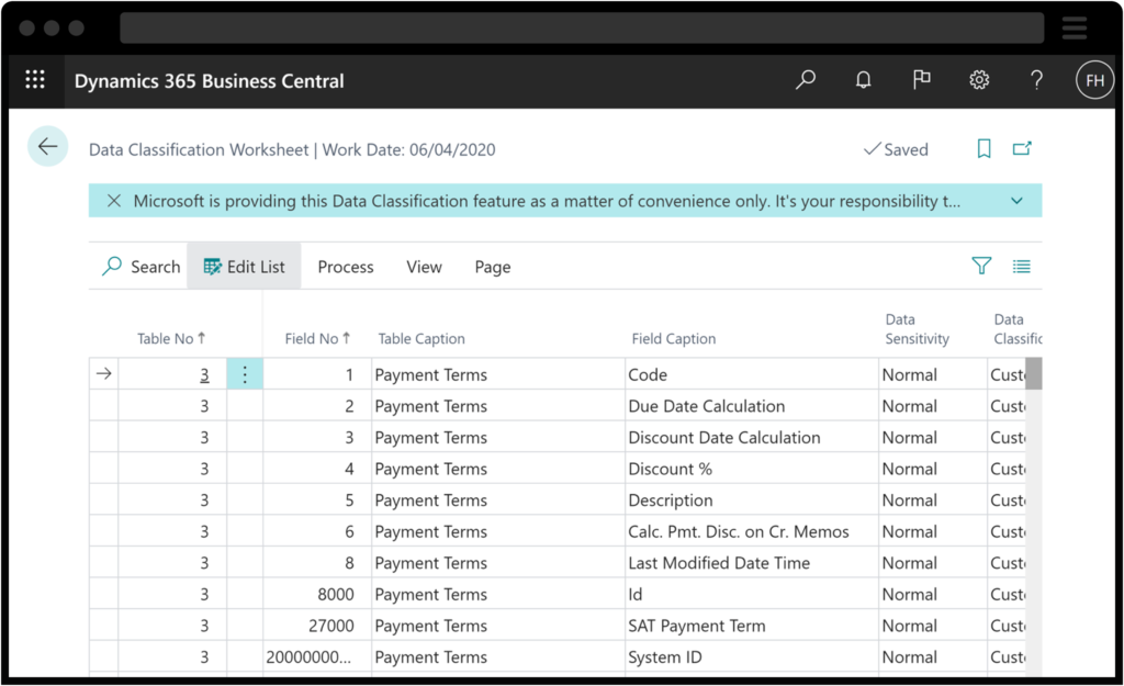 Screenshot of Business Central Approval Workflows