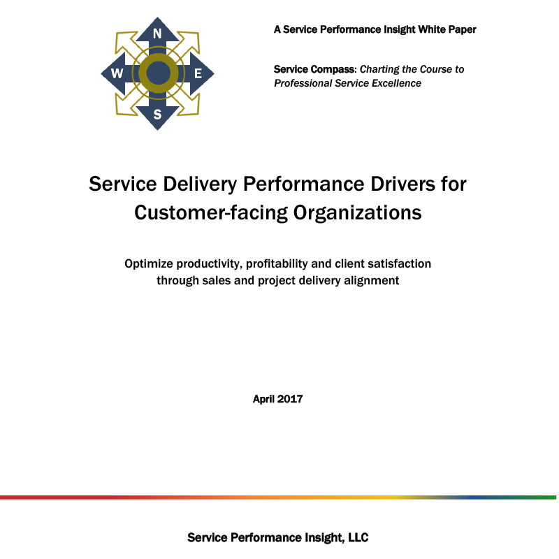 Screenshot of ebook Service Delivery Performance Drivers