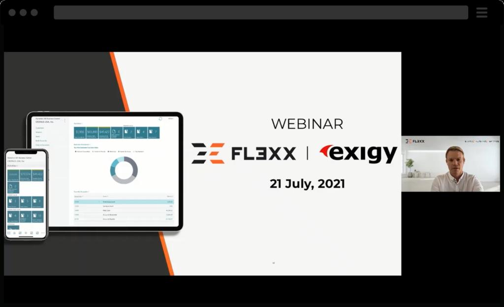 Screenshot of webinar for FL3XX & Business Central
