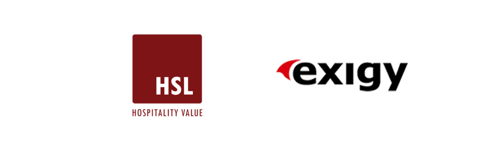logos of exigy and hsl hospitality partners