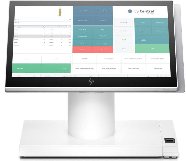 Point of sale, ls retail, pos, white monitor
