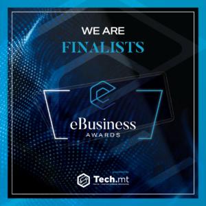 technology background, award for eBusiness logo